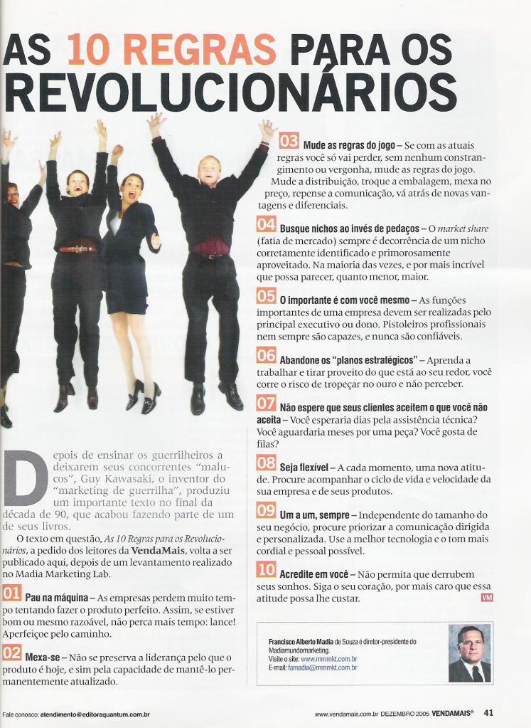 10 regras para revolucionários